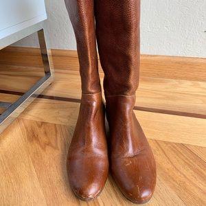 Steven Intyce wedge cognac boots